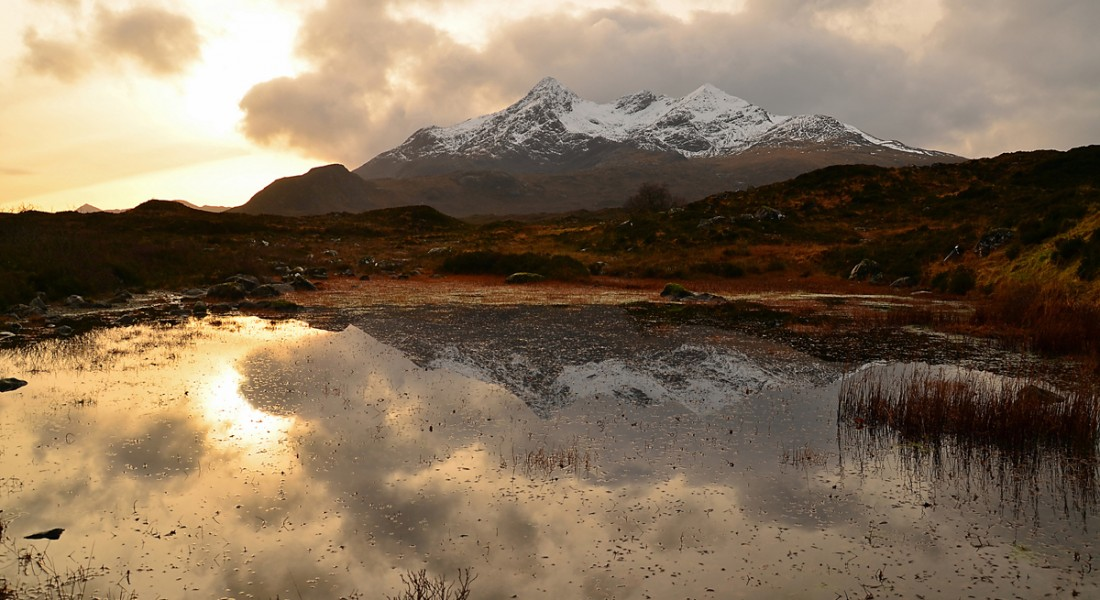 The Cuillin in winter, Isle of Skye