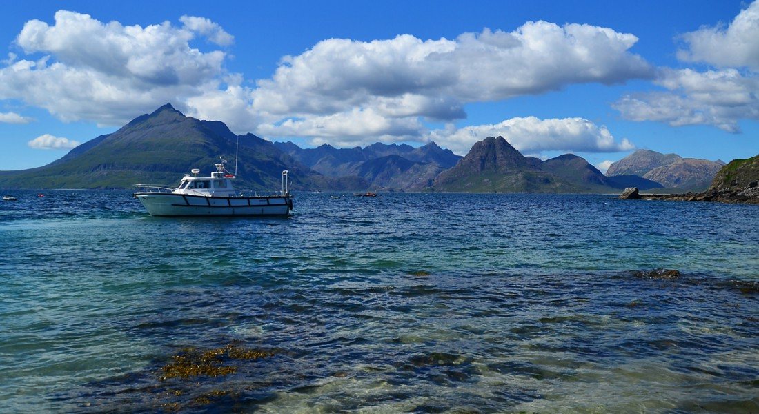 From Elgol across Loch Scavaig to the Cuillin mountains