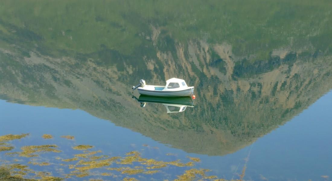 Fishing boat on Loch Slapin, Isle of Skye